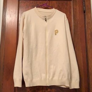 "Men's ""Mr. Rogers"" tan cardigan"